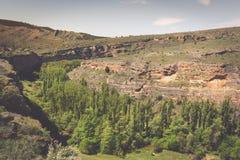 Canyon e Sepulveda di Duraton segovia La Castiglia Leon spain eur Fotografia Stock Libera da Diritti