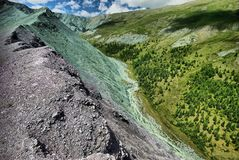 Canyon eastern slope of the Sikhote-Alin Range. Sikhote Alin, a mountainous country in the Far East stock photography