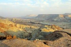 Canyon Ein-Avdat in Negev stony desert Royalty Free Stock Photos