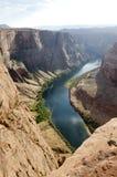 Canyon en fer à cheval aux Etats-Unis photographie stock