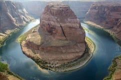 Canyon en fer à cheval aux Etats-Unis image stock