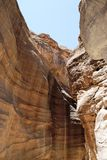 Canyon en Jordanie Photos stock