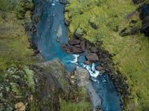 Canyon epico Islanda del sud del ` s dell'Islanda del canyon di Fjadrargljufur fotografia stock