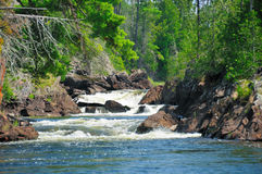 Canyon falls in the Quetico Royalty Free Stock Photography