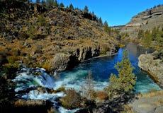 Canyon Falls. Steelhead Falls and Deschutes River Canyon - near Terrebonne, OR Stock Image