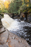Canyon Falls in the Upper Peninsula of Michigan Royalty Free Stock Photos