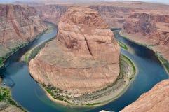 Canyon a ferro di cavallo - immagine molto naturale fotografie stock libere da diritti