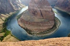 Canyon a ferro di cavallo negli Stati Uniti fotografia stock