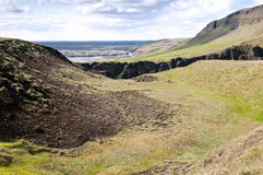 Landscape around Fjadrargljufur canyon, Iceland. stock image