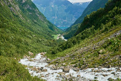 Canyon at folgefonna glacier river Royalty Free Stock Images