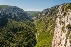 The canyon formed by river Verdon in Haute Provence France Stock Photo