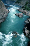 Canyon of fraser river. A look into the canyon of fraser river in spring time 1990 Stock Image