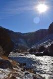 Canyon froid en couleurs Photos stock