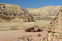 Canyon of geological Timna park, Israel Stock Image