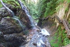 Canyon Gorges du Durnand. Switzerland. Stock Photo