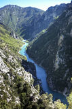 Canyon Gorges du Verdon in the south of France Royalty Free Stock Photos