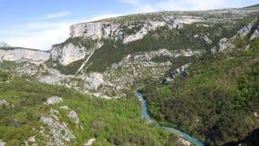 Canyon grand de verdon, France photographie stock