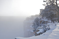 Canyon grand en hiver Image libre de droits