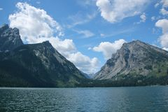 Canyon in the Grand Tetons Stock Photography