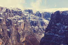 Canyon in Greece Stock Images
