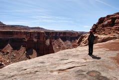 Canyon Hiker Stock Photography
