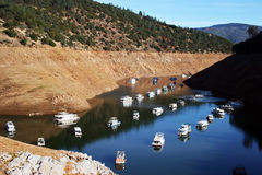 Canyon Houseboat Moorings Stock Image