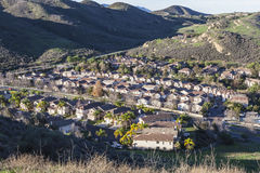 Canyon Housing Tract Royalty Free Stock Image