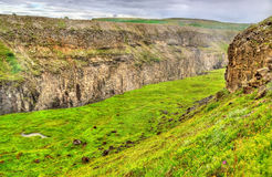 The canyon of Hvita river near Gullfoss Waterfall in Iceland Stock Photography
