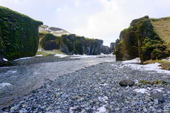 Canyon in Iceland Stock Photo