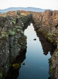 Canyon in Iceland park Royalty Free Stock Images
