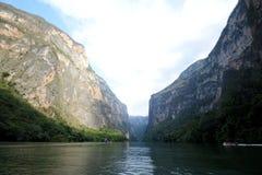 Canyon il Chiapas di Sumidero Fotografia Stock Libera da Diritti