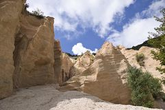Canyon italien - Lame Rosse photo stock