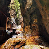Canyon in janosikove diery - Slovakia Royalty Free Stock Photo