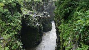 Canyon, Japan. Mountain river in canyon, Japan stock photos