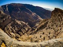 Canyon. Jebel Shams, Balcony Walk, Oman Stock Photography