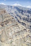 Canyon Jebel Shams Stock Photography