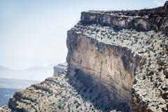 Canyon Jebel Shams. Image of canyon on mountain Jebel Shams in Oman royalty free stock photos