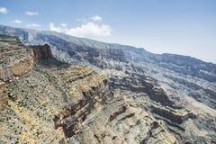 Canyon Jebel Shams Stock Photo