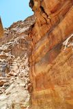 Canyon in Jordan Stock Photography