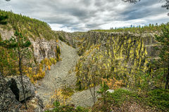Canyon Jutulhogget, Norway Stock Photography