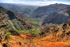 canyon Kauai Hawaii waimea Zdjęcia Stock