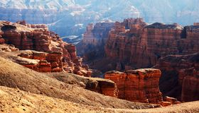 Canyon in the Kazakhstan Stock Image