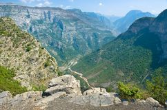 Canyon in Kelmend, Albania Immagini Stock