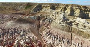 Canyon Kiin Kerish in East Kazakhstan. stock video