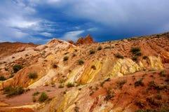 Canyon Kirghizistan di favola fotografia stock libera da diritti
