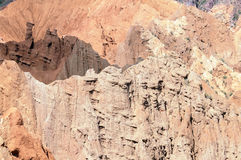 Canyon in Kyrghystan. A scenic canyon built by the erosion in Kyrghystan. Central Asia royalty free stock images