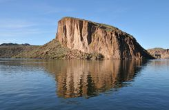 Canyon Lake, Arizona. View of one of many rock formations around Canyon Lake, part of Tonto National Forest in Arizona stock photos