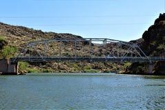 Canyon Lake, Maricopa County, Arizona, United States. Canyon Lake bridge located in Maricopa County, Arizona United States during the Spring royalty free stock photo