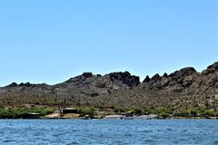 Canyon Lake, Maricopa County, Arizona, United States. Canyon Lake reservoir located in Maricopa County, Arizona United States during the Spring Royalty Free Stock Photos