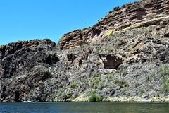 Canyon Lake, Maricopa County, Arizona, United States. Canyon Lake reservoir located in Maricopa County, Arizona United States during the Spring Royalty Free Stock Photo
